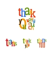 Lettering Thank you set vector image