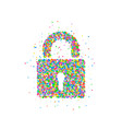 lock icon abstract vector image