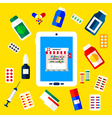 Pharmacy Tablet vector image