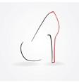 pump shoe silhouette vector image