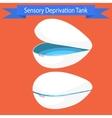 Sensory deprivation Tank vector image