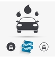 Car wash sign icon Automated teller Water drop vector image
