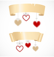 Banners for valentines day vector image