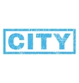City Rubber Stamp vector image
