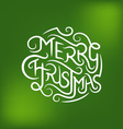 Merry Christmas Type 3 vector image