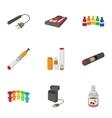Tobacco icons set cartoon style vector image