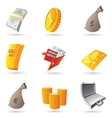 Icons for money vector image vector image