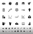 Virtual organization icons on white background vector image vector image