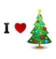 I love Christmas card vector image
