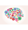Abstract human brain creative vector image