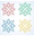 rosette pattern of flowers vector image
