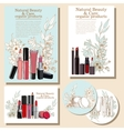 set invitations and flyers vector image