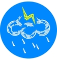 lightning weather icon vector image