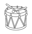 Drum kit toy icon vector image