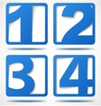 Blue 3d banners with numbers vector image