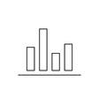 Diagram icon outline vector image