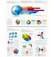 Infographics and chart design elements set vector image