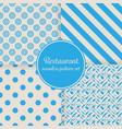 restaurant or bistro theme blue stripes dots vector image