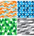 Set seamless geometric patterns vector image