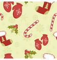 Christmas seamless green vector image vector image