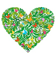 Green floral spring and summer love vector image