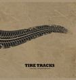 tire tracks on mud background vector image