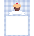 Blue restaurant menu card baby shower list vector image vector image