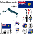 Turks and Caicos Islands map vector image