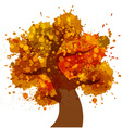 Grunge Autumn Tree icon vector image