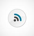 WiFi icon 2 colored vector image
