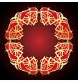 golden broach vector image vector image