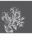 Elegant decorative floral vector image