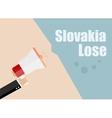 Slovakia lose Flat design business vector image
