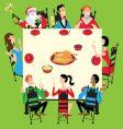 Christmas dinner vector image