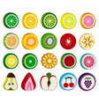 set of fruit candy sweets isolated on white vector image