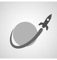 Space Rocket Around Planet copy vector image