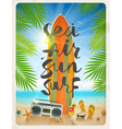 Summer beach vacation vector image