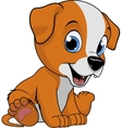 good funny dog vector image