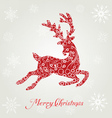 poster merry christmas typography vector image
