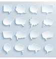 paper communication bubbles vector image