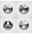 Metallic knobs vector image