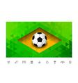 Brasil Flag Triangle vector image