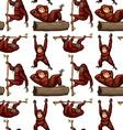 Seamless orangutan vector image vector image