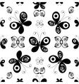 whiteblack seamless pattern vector image