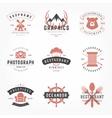 Retro Vintage Logotypes or insignias Hand drawn vector image vector image