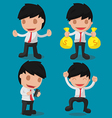 Business Man Character Worker Cute vector image