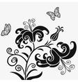 Lilys black vector image