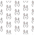 Pig stylized line fun seamless pattern for kids vector image