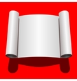 Roll of Blank White Paper vector image