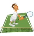 tennis player on the court vector image